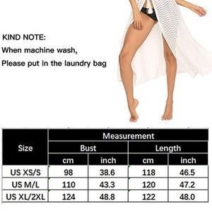 Swim - Coverups Crochet Knit Lace Up Swim Long Maxi